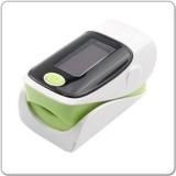 Tragbare Finger Pulse Oximeter Weiß/Grün mit 1.1(2.79 cm) Bildschirm